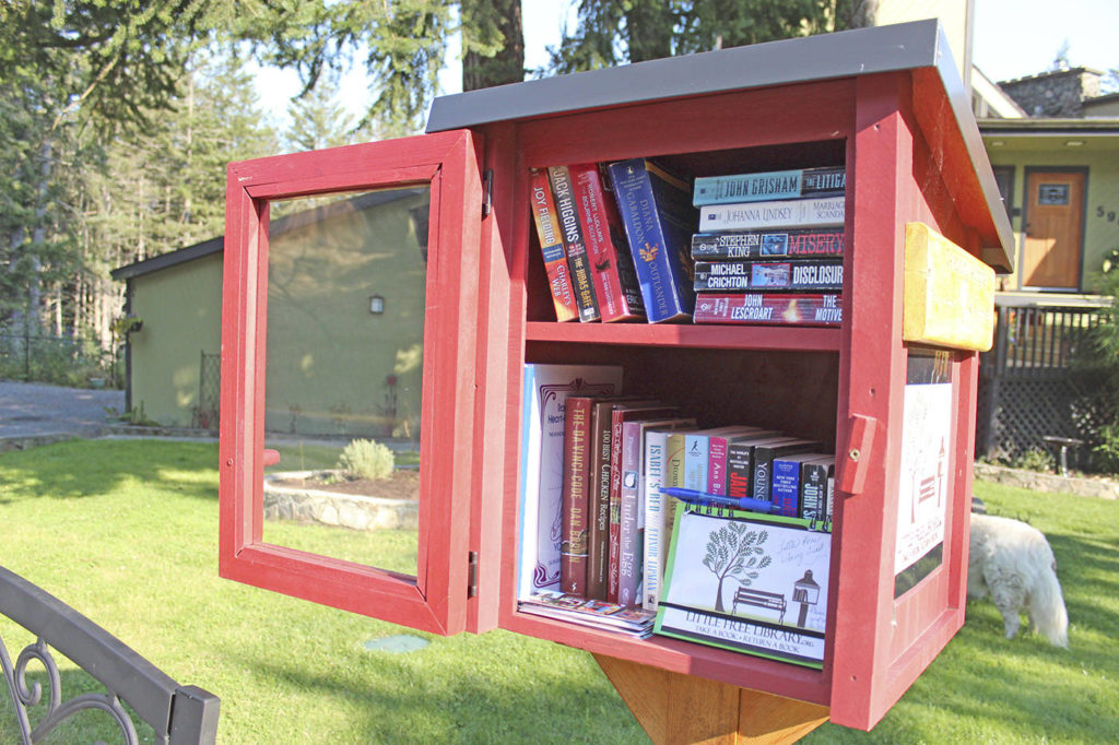 Little free libraries, such as the one on Theresa Sutton's property in Metchosin, have popped up around the West Shore. (Kendra Wong/News Gazette staff)