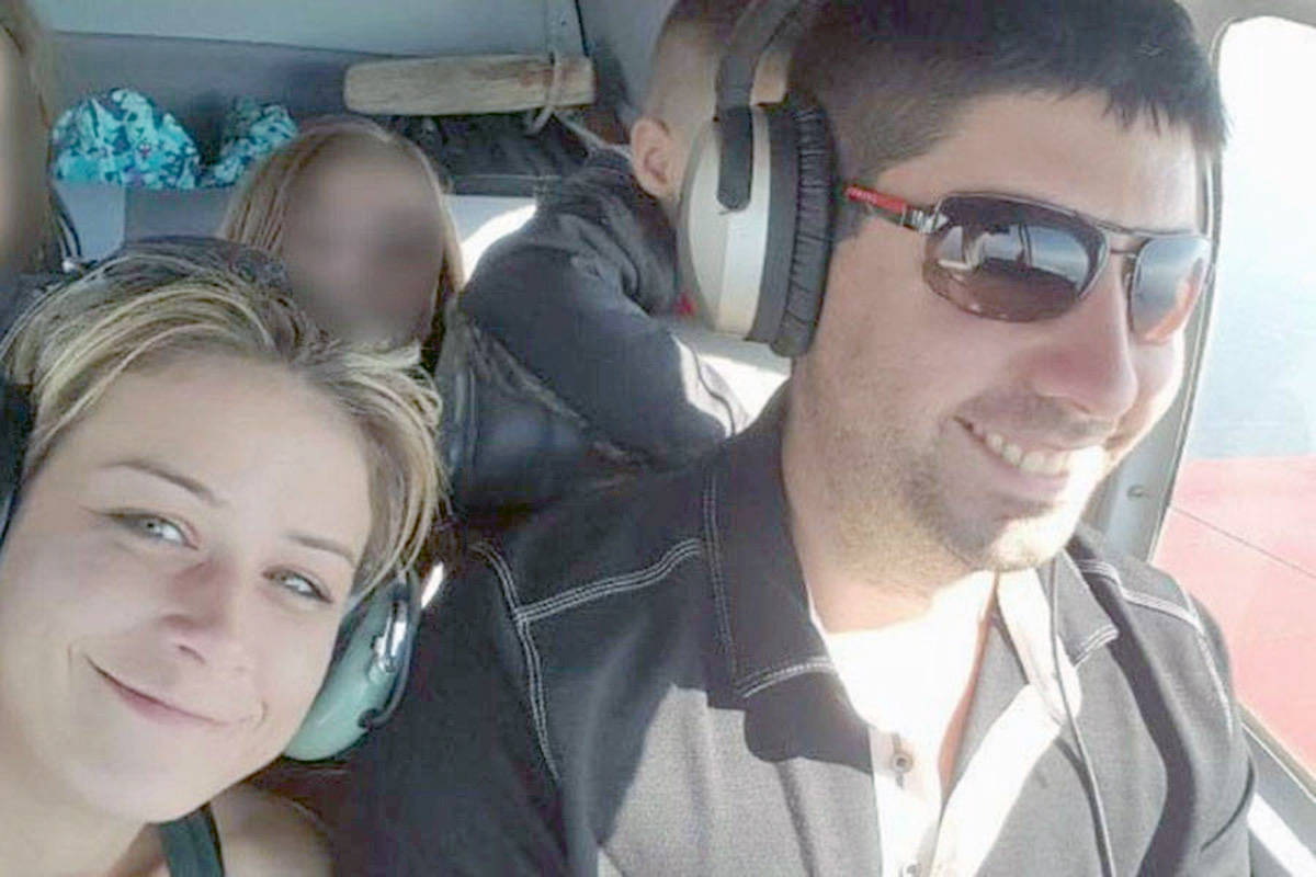 Ashley Bourgeault and Dominic Neron were reported missing after the plane they were flying from Penticton failed to arrive in Edmonton at the end of November, 2017. The wreckage was found yesterday near Revelstoke. (Black Press File)