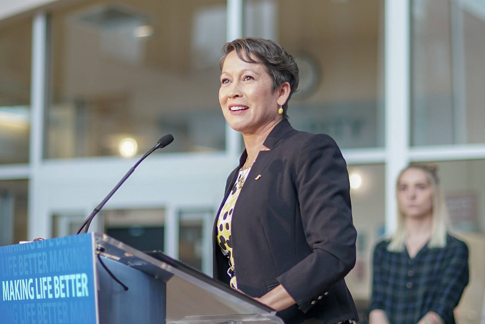 B.C.'s Minister of Advanced Education, Skills and Training Melanie Mark announced a number of new supports for post-secondary students on Wednesday. (B.C. government photo)