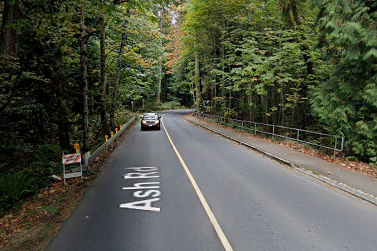 A series of upgrades are planned for Saanich's Ash Road at Douglas Creek. (Google Streetview)