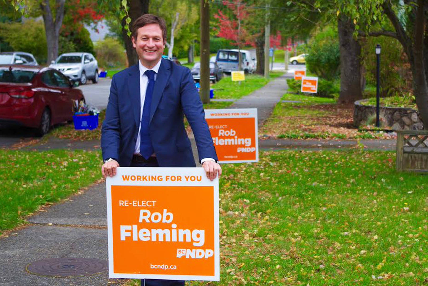 Rob Fleming, who served as minister of education in the most recent BC NDP government, is seeking his fifth term in office in the Victoria-Swan Lake riding. (Rob Fleming/Twitter)